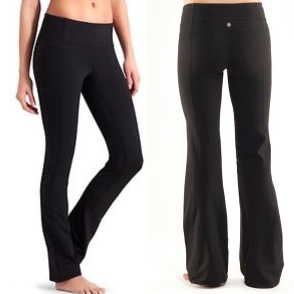 681fe009dd8 lululemon athletica Pants - Lululemon Groove Pant In Solid Black Yoga Pants